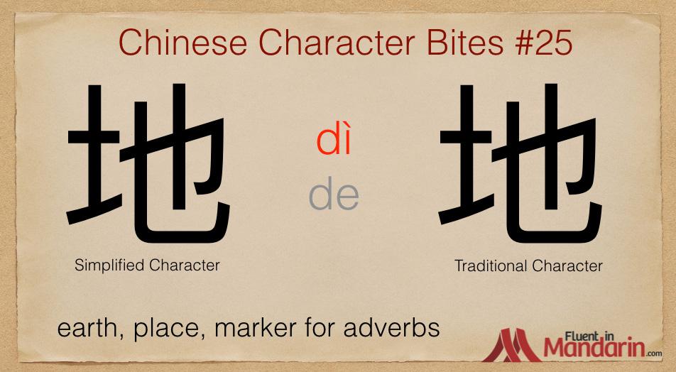 Chinese Character Bites 25 - 地