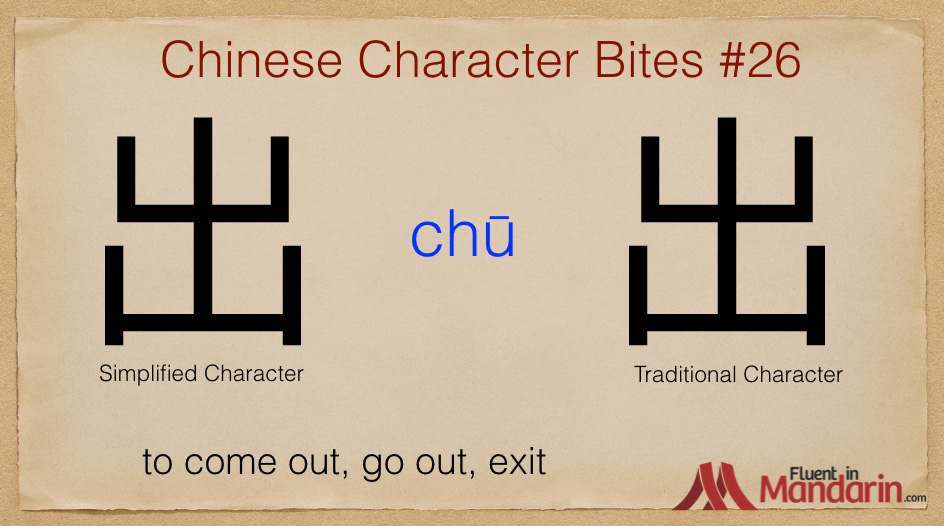 Chinese Character Bites 26 - 出