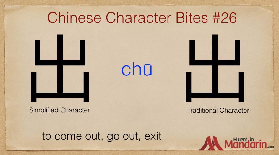 Chinese Character Bites 26 - 出