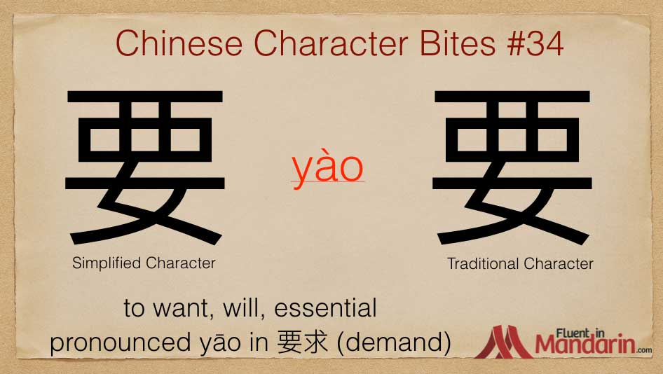 Chinese Character Bites 34 - 要