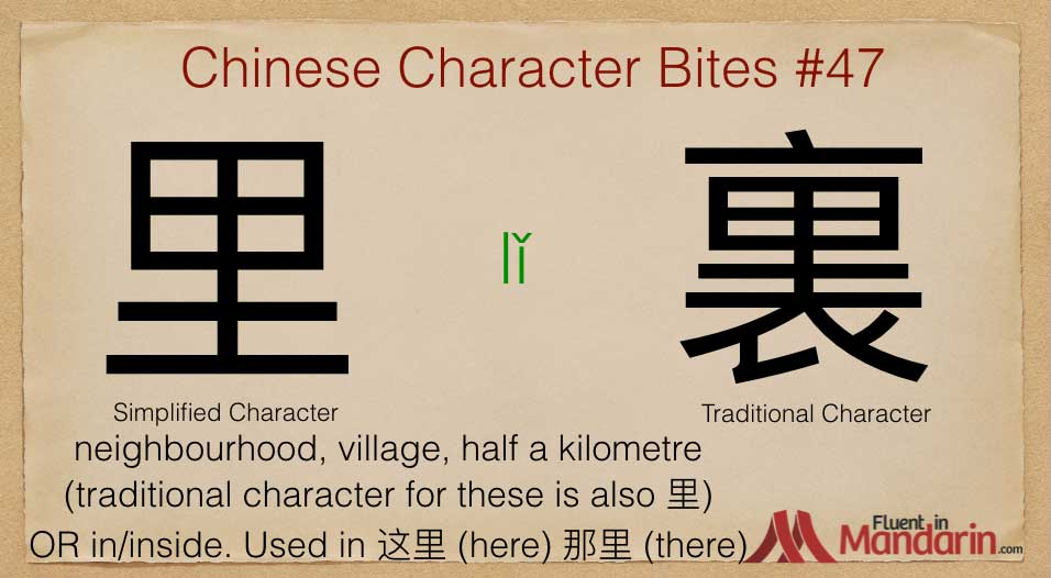 Chinese Character Bites 47 - 里