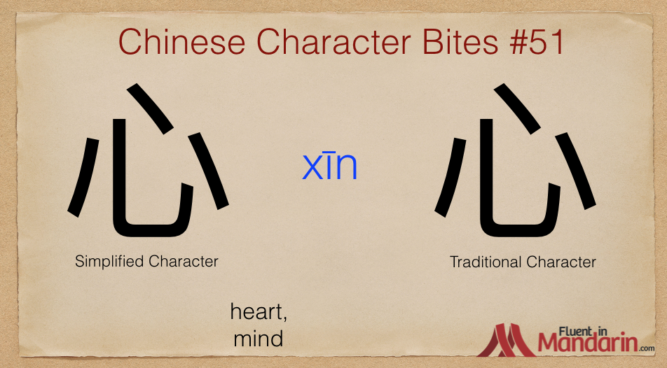 Chinese Character Bites 51 - 心
