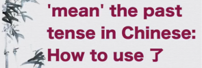 How to use le in Chinese