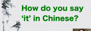 How do you say 'it' in Chinese
